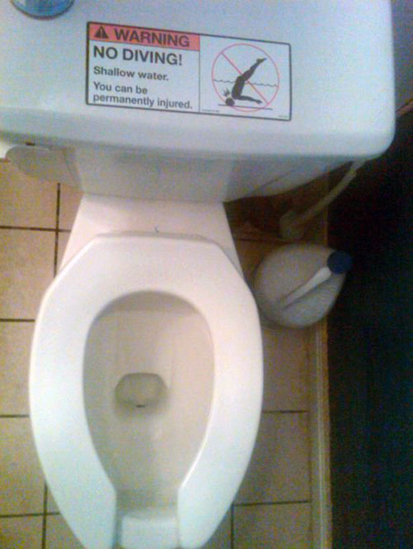 No- Diving Toilet